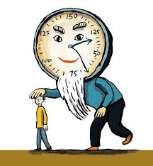 Cartoon of Father Time